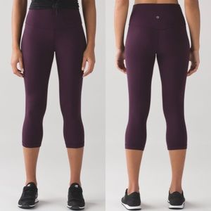 Lululemon Athletica Align Purple Cropped Leggings